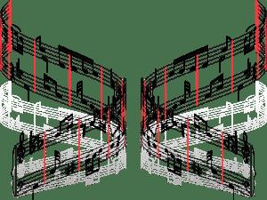 Graphisme - Notation musicale - Erreur 5B (barres de mesure multiples et equidistantes)