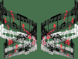 Graphisme - Notation musicale - Erreur 4B (Orientation des hampes des figures de notes et ordre de présentation des dièses et bémols)