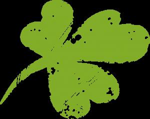 Fête de la Saint-Patrick, le saint-patron de l'Irlande. Trèfle à 4 feuilles