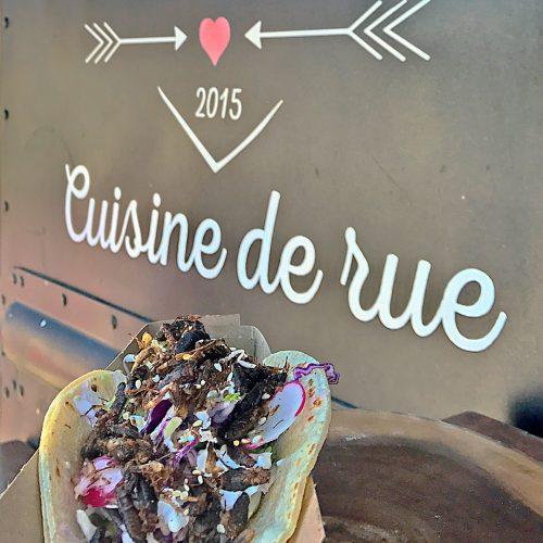 Tacos aux grillons de la cantine Mi Corazon (cuisine de rue). Source:©micorazoncuisinederue (Intagram)