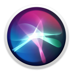 Icône de Siri, l'assistant intelligent de Apple (macOS Mojave).